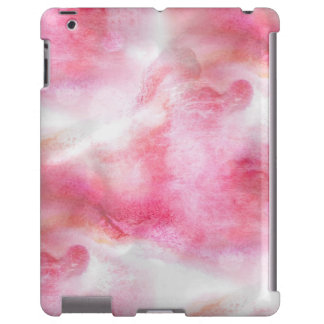 pintura vanguardista roja de la mano del fondo del funda para iPad