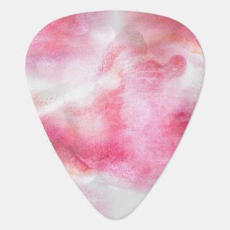 pintura vanguardista roja de la mano del fondo del plumilla de guitarra