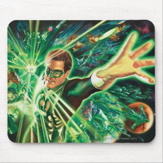 Pintura verde de la linterna tapete de ratón