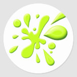 Pintura verde Splodge Pegatinas