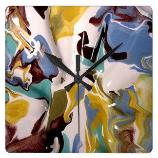 Pintura veteada Acryllic moderno industrial del es Relojes De Pared
