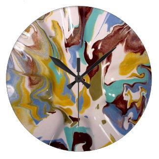 Pintura veteada Acryllic moderno industrial del es Relojes