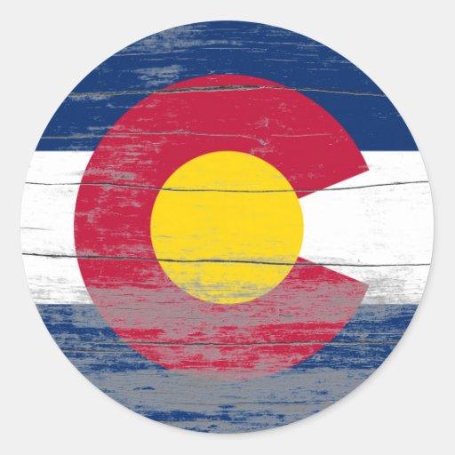 Pintura vieja de Colorado Pegatinas Redondas