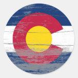Pintura vieja de Colorado Pegatinas
