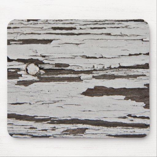 Pintura vieja en la madera alfombrillas de ratones