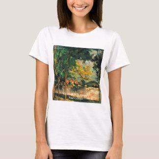 Pintura y cita de la naturaleza de Paul Cezanne Playera