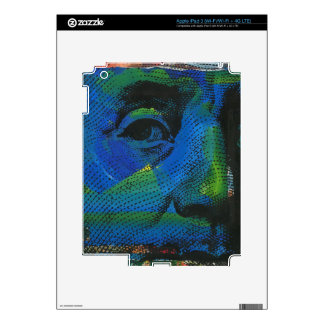 Pintura y serigrafía del retrato de Ben Franklin Pegatina Skin Para iPad 3