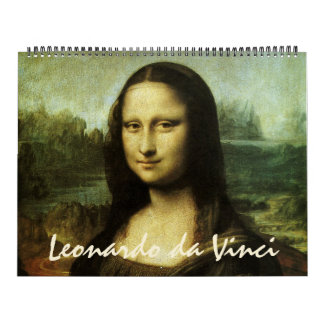 Pinturas 2016 y bosquejos de Leonardo da Vinci Calendarios De Pared