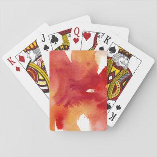 Pinturas abstractas de la acuarela barajas de cartas
