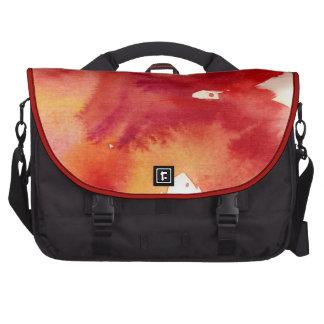 Pinturas abstractas de la acuarela bolsas para portatil