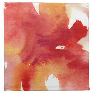 Pinturas abstractas de la acuarela servilleta de papel