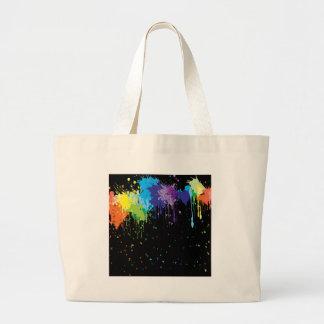 Pinturas abstractas del chapoteo de los colores bolsas