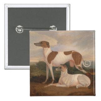 pinturas al óleo de galgos chapa cuadrada 5 cm