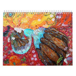 Pinturas coloridas. 2013. calendarios de pared
