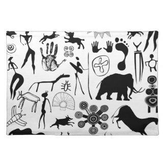 pinturas de cuevas - arte primitivo mantel