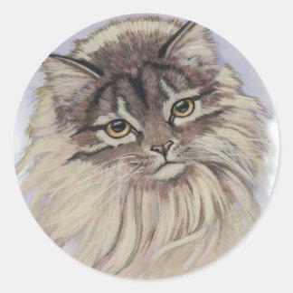 pinturas de gatos pegatina redonda