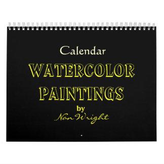 Pinturas de la acuarela de NaN Calendarios