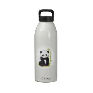 Pinturas de la acuarela del árbol del cachorro y botella de agua reutilizable