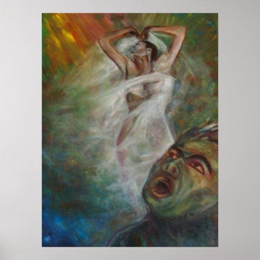 Pinturas de la bella arte póster