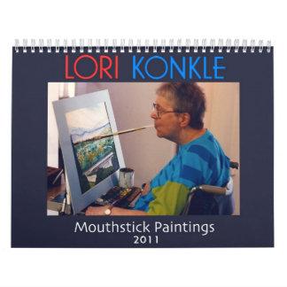 Pinturas de la boca de Lorri Konkle Calendarios De Pared