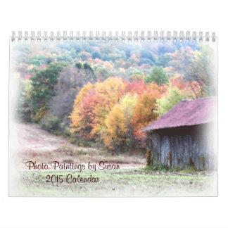 Pinturas de la foto de la naturaleza por el calendarios de pared