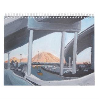 Pinturas de Mt.Diablo por el calendario de Stan Le