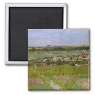 Pinturas de paisaje francesas de Berthe Morisot Imán Para Frigorifico
