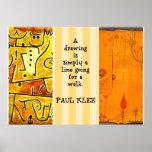Pinturas de Paul Klee y cita de Paul Klee Impresiones