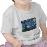 Pinturas de Van Gogh: Noche estrellada Van Gogh Camisetas