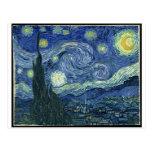 Pinturas de Van Gogh: Noche estrellada Van Gogh Postal