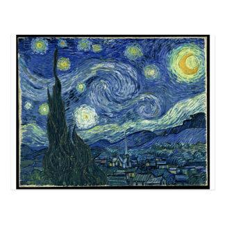 Pinturas de Van Gogh Noche estrellada Van Gogh Postales