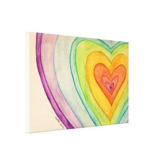 Pinturas del arte de la lona de los corazones de lona estirada galerias