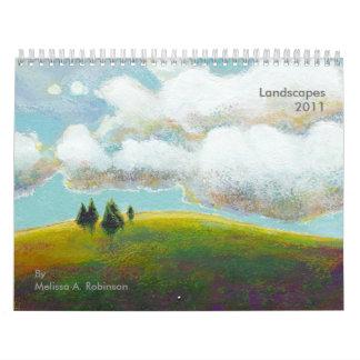 Pinturas del calendario del arte 2011 del paisaje