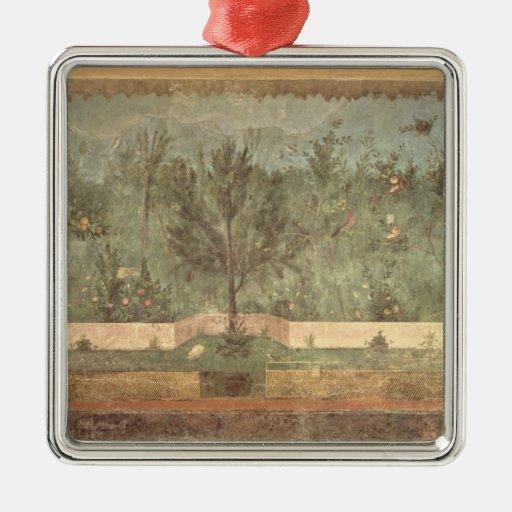 Pinturas del jardín del 'chalet de Livia Adorno Navideño Cuadrado De Metal