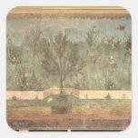 Pinturas del jardín del 'chalet de Livia Pegatina Cuadrada