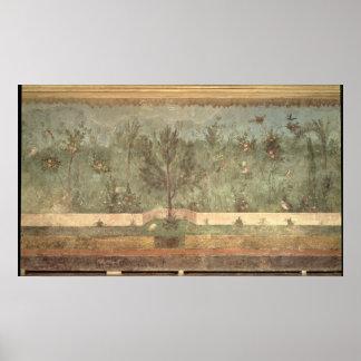 Pinturas del jardín del 'chalet de Livia Póster