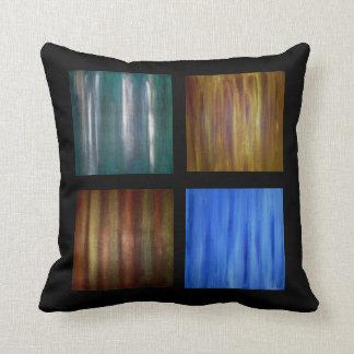 Pinturas en colores pastel abstractas, las cuatro  almohadas