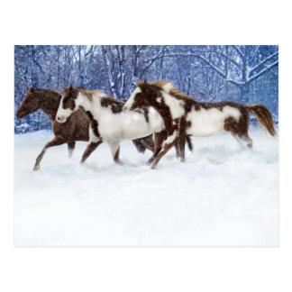 Pinturas en invierno tarjeta postal