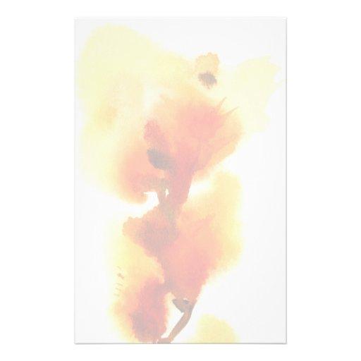 Pinturas florales abstractas 2 de la acuarela papeleria