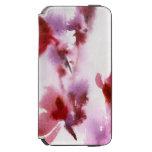 Pinturas florales abstractas 3 de la acuarela funda cartera para iPhone 6 watson