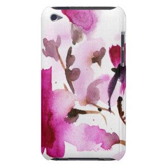 Pinturas florales abstractas 4 de la acuarela barely there iPod protector