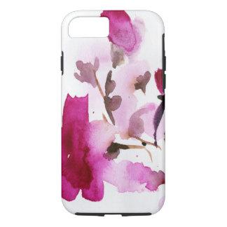 Pinturas florales abstractas 4 de la acuarela funda iPhone 7