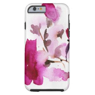 Pinturas florales abstractas 4 de la acuarela funda resistente iPhone 6