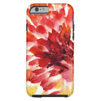 Pinturas florales abstractas 5 de la acuarela funda de iPhone 6 tough