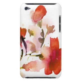 Pinturas florales abstractas de la acuarela barely there iPod funda