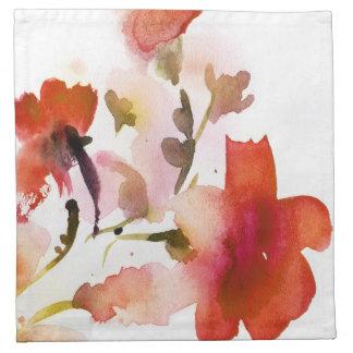 Pinturas florales abstractas de la acuarela servilleta imprimida
