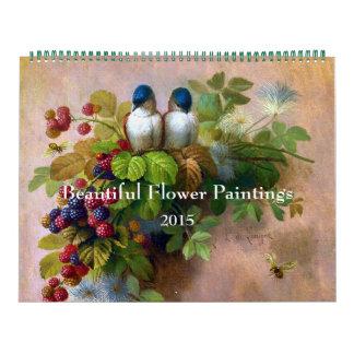Pinturas hermosas de la flor calendario de pared