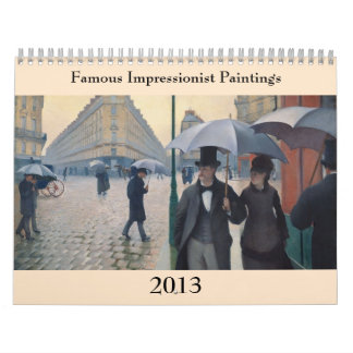 Pinturas impresionistas famosas 2013 calendario