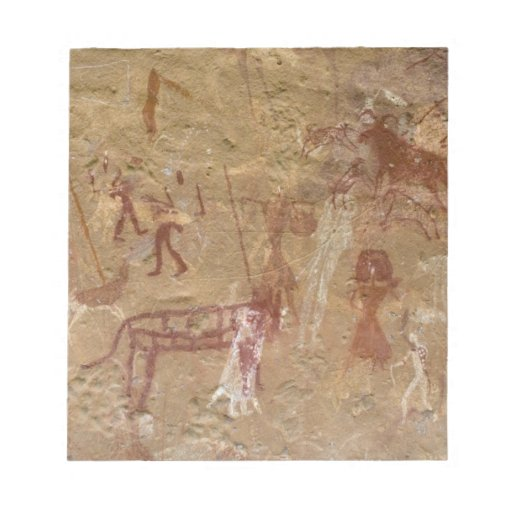 Pinturas prehistóricas de la roca, Akakus, Sáhara Blocs