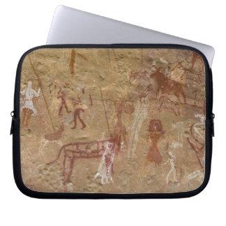 Pinturas prehistóricas de la roca, Akakus, Sáhara Fundas Portátiles